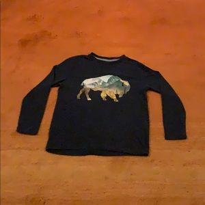 Buffalo mountain long sleeve Kids T - Shirt